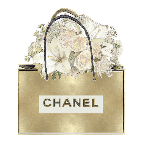 Gold Bag With Floral Bouquet  - Madeline Blake - comprar online