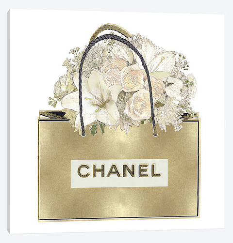 Gold Bag With Floral Bouquet  - Madeline Blake na internet
