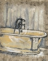 2 Gravuras - Antique Bath I e II - Ruth Bush na internet