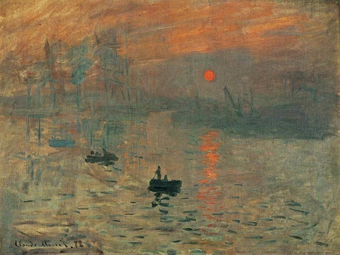 Sunrise Impression  - Claude Monet na internet