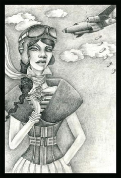 The Aviator (Drawing) - Jami Goddess