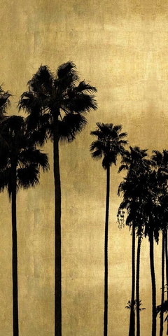 Palm Silhouette on Gold I - Kate Bennett