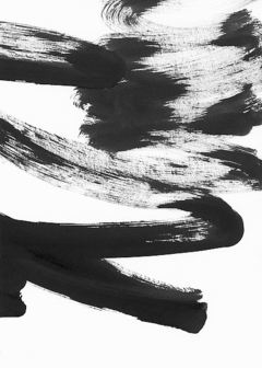 Black and White Strokes 5 por Iris Lehnhardt