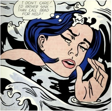 DROWNING GIRL - Roy Lichtenstein