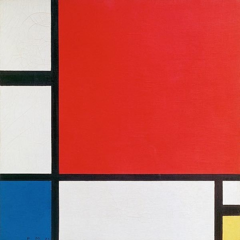 Composition II in Red, Blue, and Yellow - Piet Mondrian