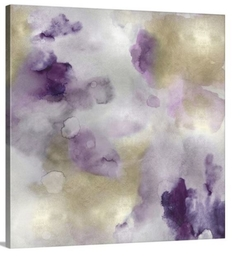 Canvas - Whisper in Amethyst I -Lauren Mitchell