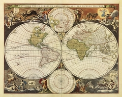 NEW WORLD MAP, 17TH CENTURY