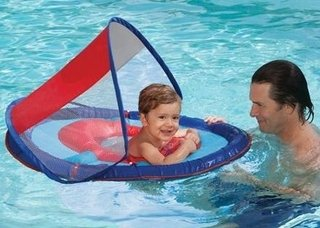 Boia Swimways P/bebes Com Cabaninha Uv 50