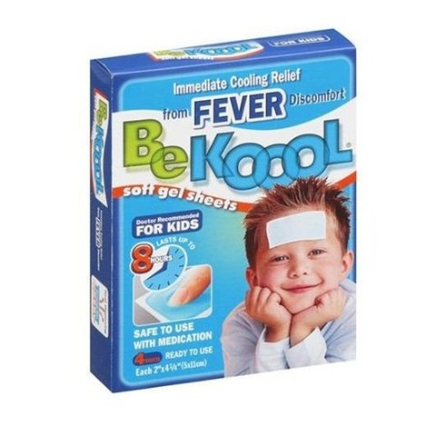 Be Koool Soft Gel Sheets for Kids -(Adesivo gel) auxilio para baixar a febre