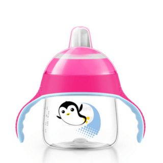 Copo Pinguim Philips Avent - 200ml - Rosa