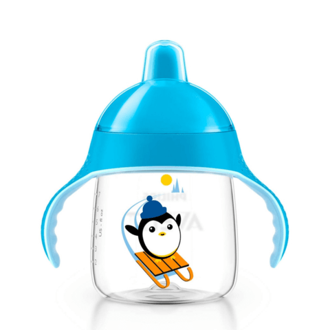 Copo Pinguim Philips Avent - 260ml - Azul