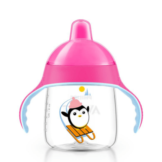 Copo Pinguim Philips Avent - 260ml - Rosa