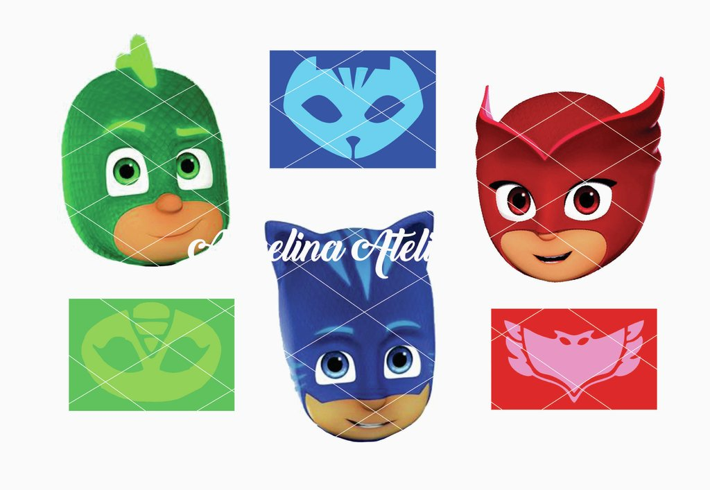 4a9393a727 Lámina Comestible - Pj Mask   Héroes en Pijamas
