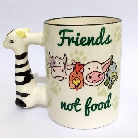 Caneca Friends Not Food - Alça Zebra
