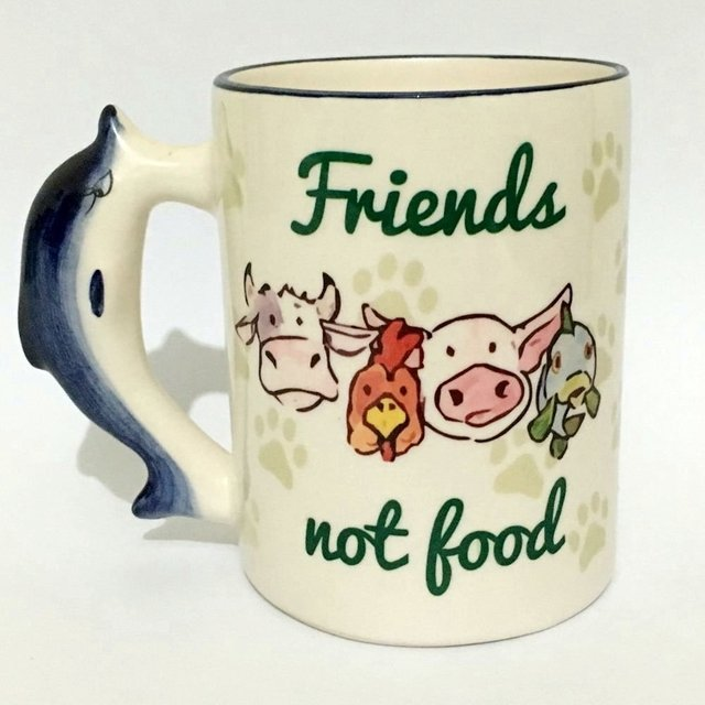 Caneca Friends Not Food - Alça Golfinho