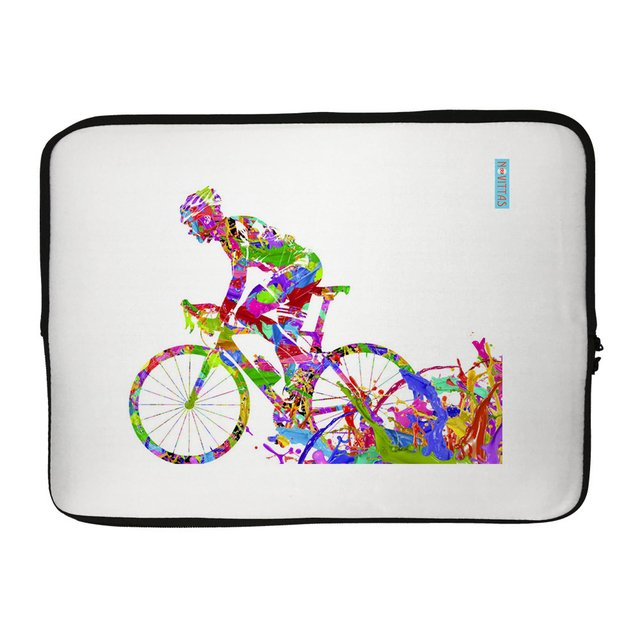 Capa para Notebook - Bicicleta Multicolorida