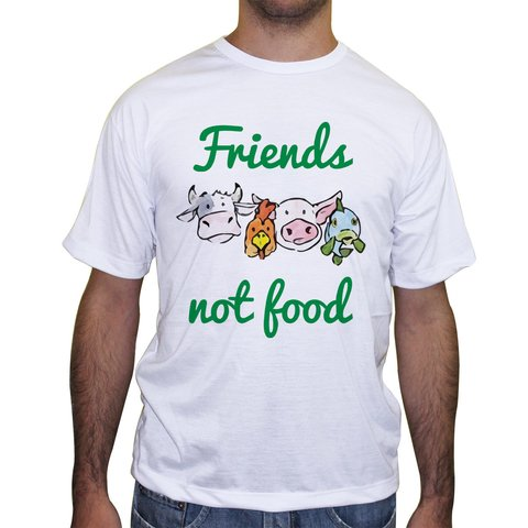 Camiseta Friends Not Food - Cores