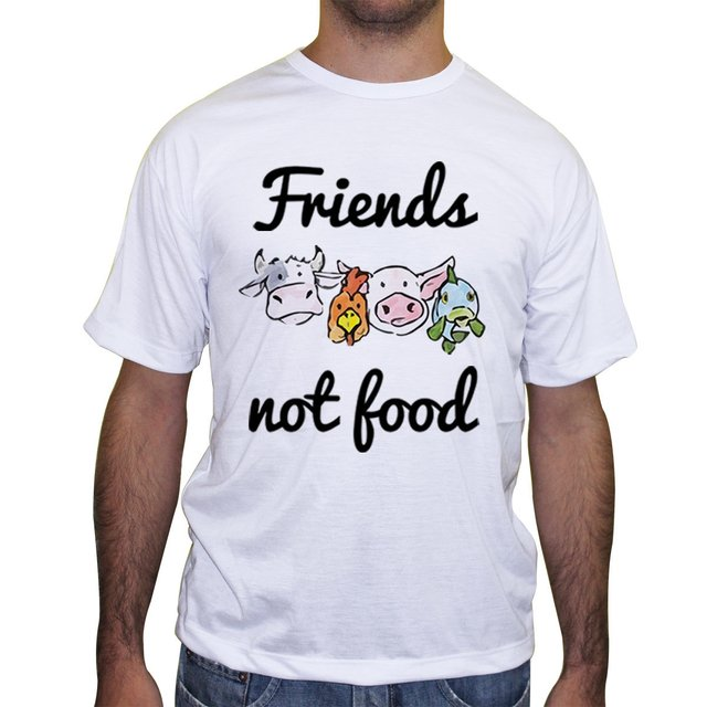 Camiseta Friends Not Food - Cores - comprar online