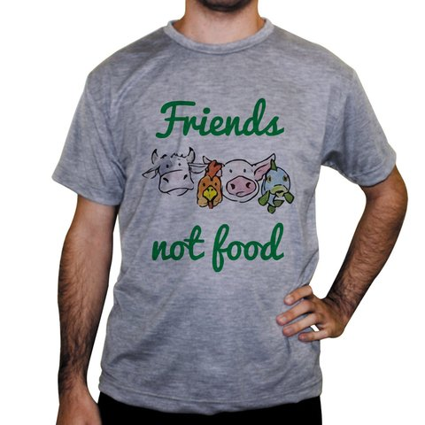Camiseta Friends Not Food - Cores - loja online
