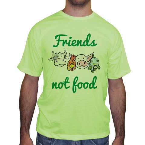 Camiseta Friends Not Food - Cores na internet
