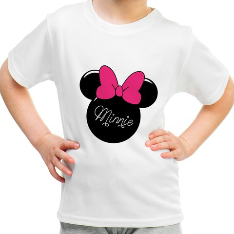 Camiseta Infantil Minnie Head