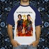 Camiseta Raglan Supernatural Fire