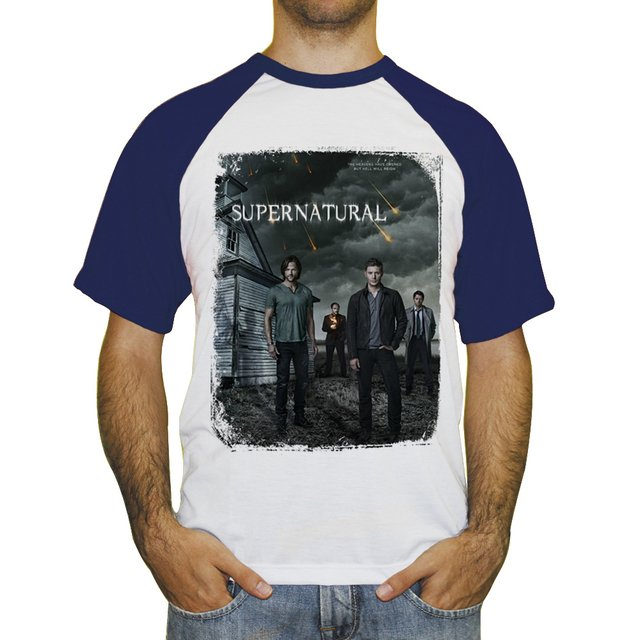 Camiseta Raglan Supernatural Join the Hunt na internet