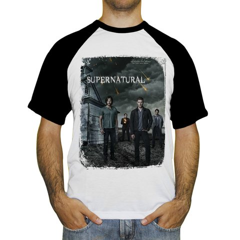 Camiseta Raglan Supernatural Join the Hunt - Novittas - Presentes Personalizados