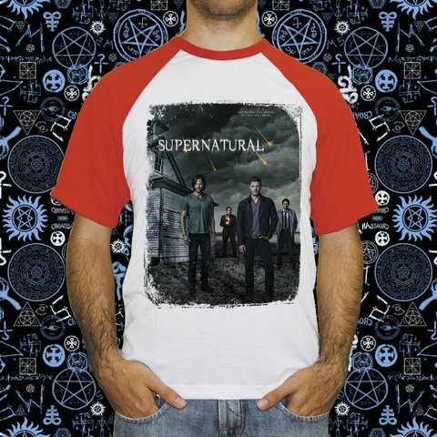 Camiseta Raglan Supernatural Join the Hunt