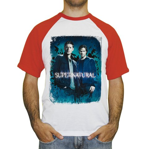 Camiseta Raglan Supernatural Sam e Dean na internet