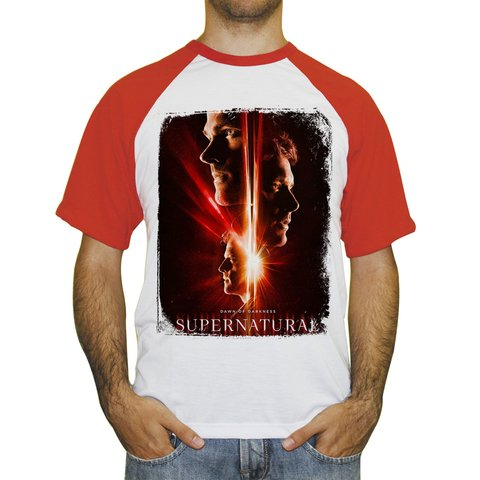 Camiseta Raglan Supernatural Temporada 13 na internet