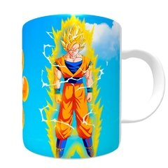 Caneca Goku Esferas do Dragão - Novittas - Presentes Criativos
