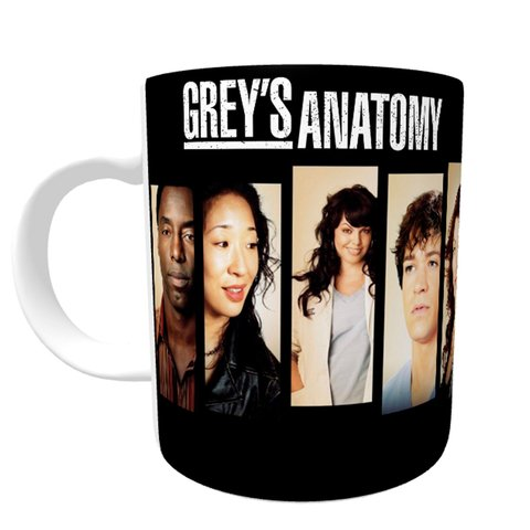 Caneca Grey's Anatomy - Faces