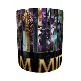 Caneca League Of Legends I Am Mid na internet