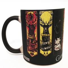 Caneca Mágica Game Of Thrones - Casas - Novittas - Presentes Criativos