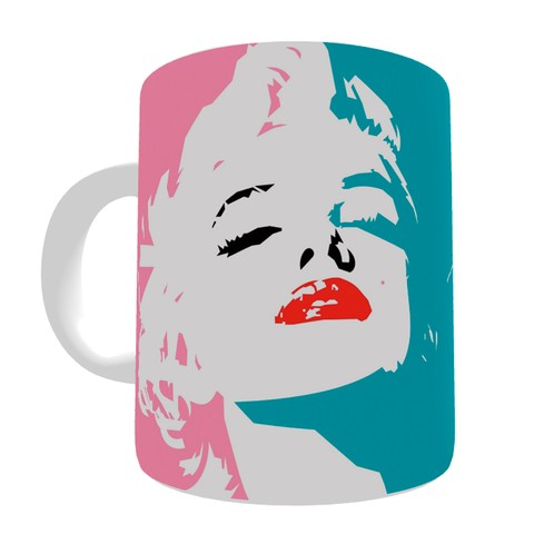 Caneca Marilyn Monroe Pop Art