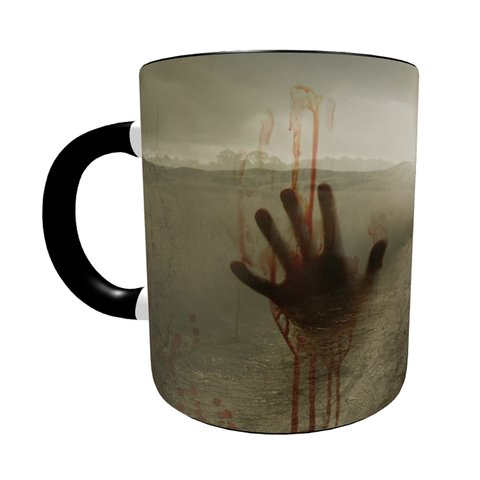 Caneca The Walking Dead - Action com Alça e Interior Preto na internet