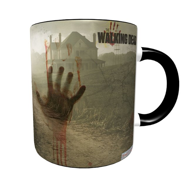 Caneca The Walking Dead - Action com Alça e Interior Preto