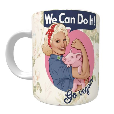 Caneca We Can Do It! - Interior Verde