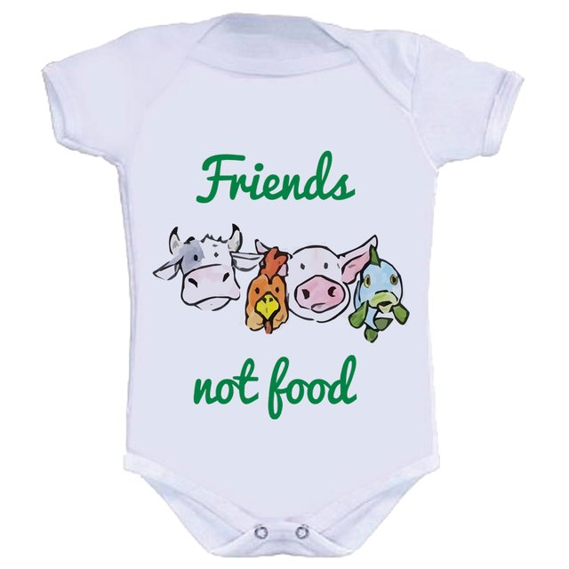 Body Infantil Friends Not Food na internet