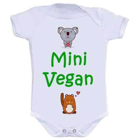 Body Infantil Mini Vegan
