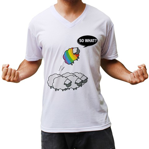 Camiseta Gola V Ovelha So What?