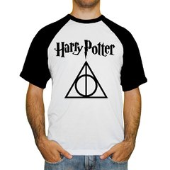 Camiseta Raglan Harry Potter - Relíquias da Morte