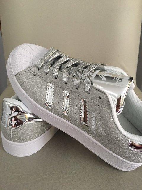 adidas superstar blancas con brillos