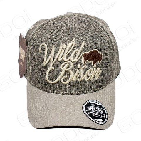 BONÉ ABA CURVA - COUNTRY STYLE - WILD BISON