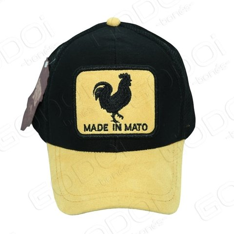 BONÉ ABA CURVA COUNTRY STYLE - TRUCKER - MADE IN MATO