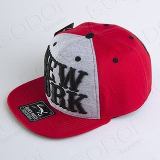 BONÉ ABA RETA BLACK BULLS NEW YORK RED - comprar online