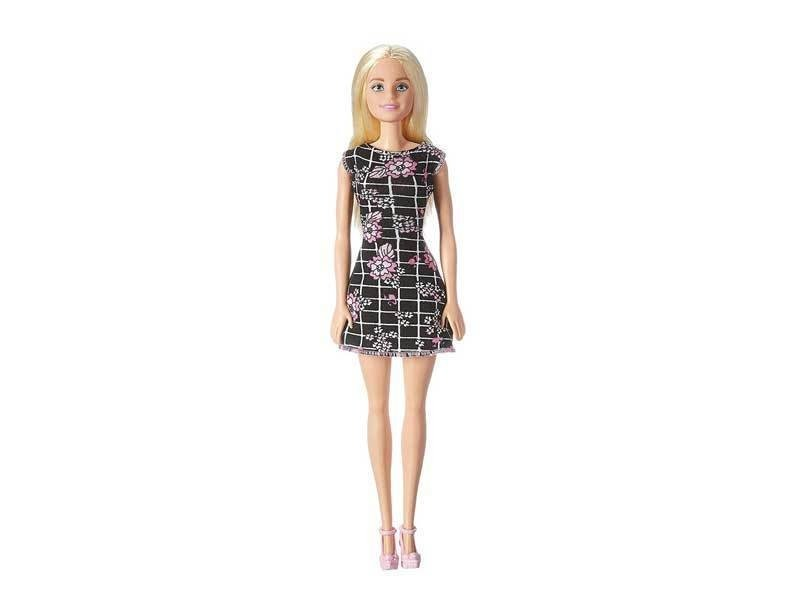 Barbie Vestido Negro floreado