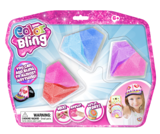 Color Bling - Pack de Seis Colores con Forma de Gema