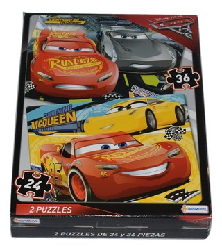 Rompecabezas Doble de Cars 3